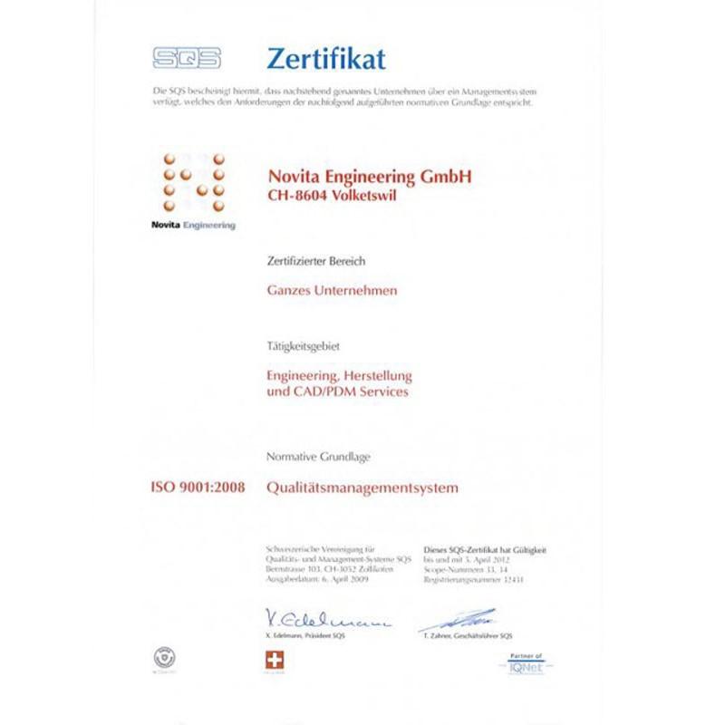 Zertifizierungen | Novita Engineering GmbH